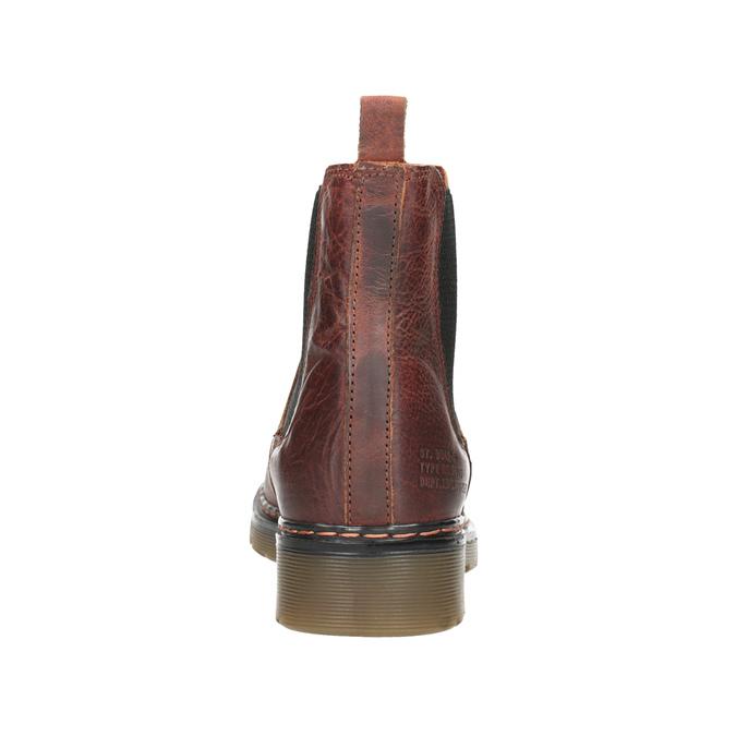 Skórzane obuwie damskie typu chelsea bata, brązowy, 596-3680 - 16