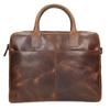 Skórzana torba męska zprzeszyciami bata, brązowy, 964-4139 - 17