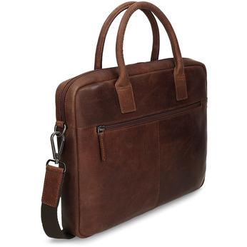 Skórzana torba męska zprzeszyciami bata, brązowy, 964-4139 - 13