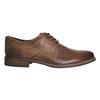 Skórzane półbuty męskie zprzeszyciami bata, brązowy, 826-4610 - 15