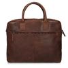 Skórzana torba męska zprzeszyciami bata, brązowy, 964-4139 - 26
