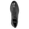 Skórzane buty za kostkę, zfakturą bata, szary, 826-2616 - 26