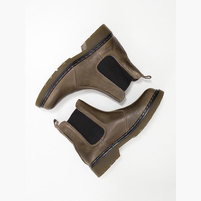 Skórzane botki damskie typu chelsea bata, brązowy, 596-7680 - 18