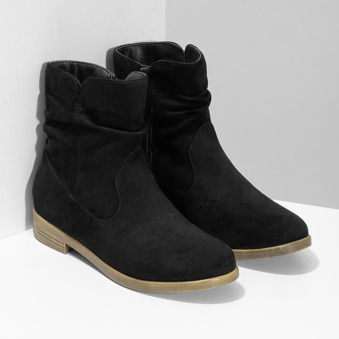 Botki damskie bata, czarny, 599-6614 - 26