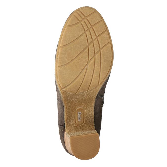 Kozaki damskie zmarszczeniami bata, brązowy, 799-4614 - 19