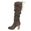 Kozaki damskie zmarszczeniami bata, brązowy, 799-4614 - 26