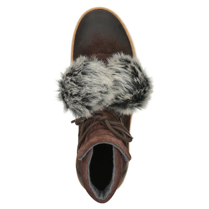 Skórzane obuwie za kostkę weinbrenner, brązowy, 596-4674 - 15