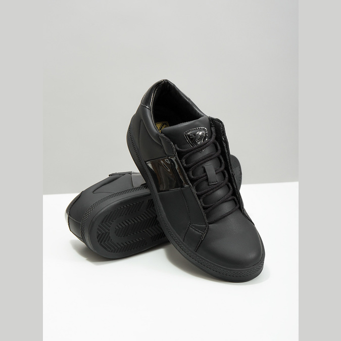Czarne trampki damskie atletico, czarny, 501-6171 - 18