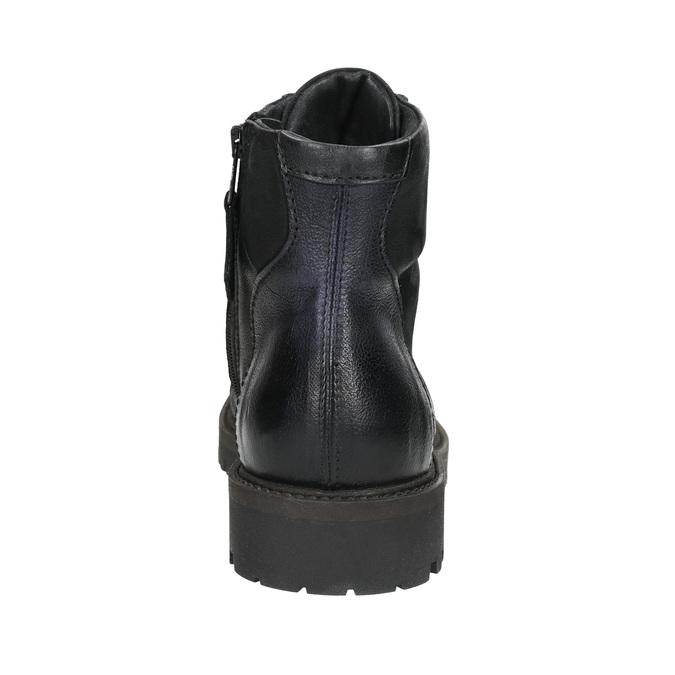 Buty męskie za kostkę bata, czarny, 896-6664 - 17