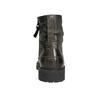 Skórzane obuwie za kostkę bata, szary, 896-2663 - 17