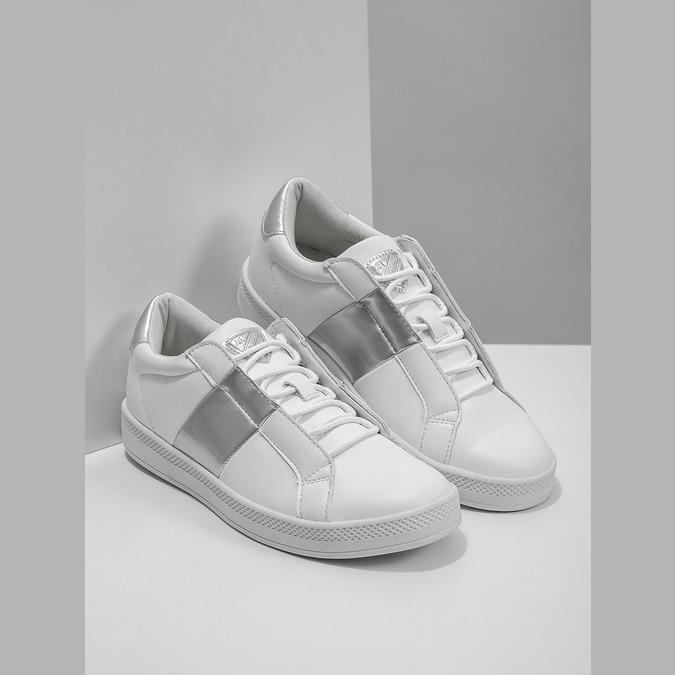 Damskie białe trampki atletico, biały, 501-1171 - 18