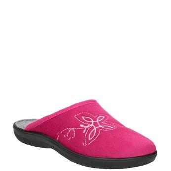 Różowe kapcie damskie bata, różowy, 579-5621 - 13