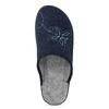 Granatowe kapcie damskie bata, niebieski, 579-9621 - 17
