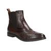 Skórzane obuwie typu chelsea ze ornamentami brogue bata, brązowy, 596-4683 - 13
