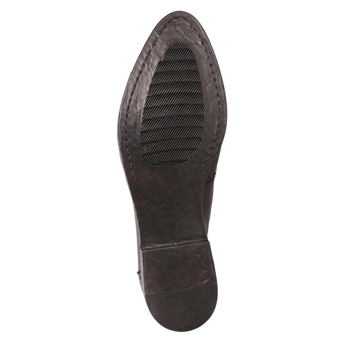 Skórzane obuwie typu chelsea ze ornamentami brogue bata, brązowy, 596-4683 - 17