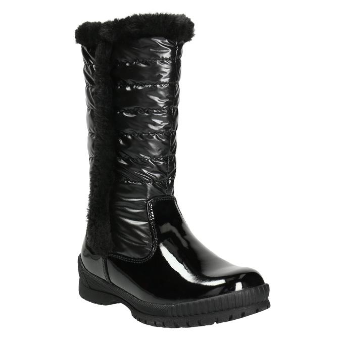 Zimowe buty dziecięce zfuterkiem mini-b, czarny, 399-6655 - 13