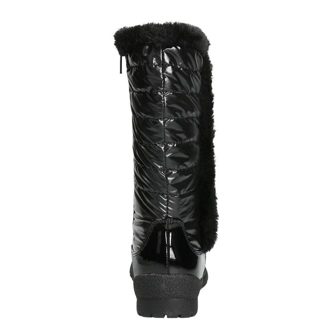 Zimowe buty dziecięce zfuterkiem mini-b, czarny, 399-6655 - 17