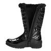 Zimowe buty dziecięce zfuterkiem mini-b, czarny, 399-6655 - 26