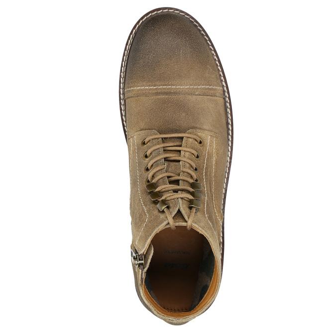 Skórzane obuwie za kostkę bata, brązowy, 893-3653 - 26