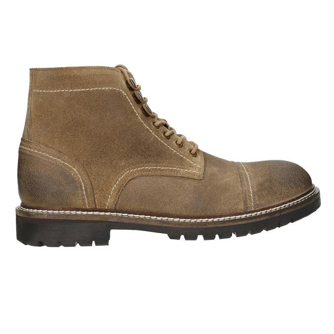 Skórzane obuwie za kostkę bata, brązowy, 893-3653 - 15