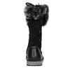 Skórzane kozaki dziewczęce z kożuszkiem mini-b, czarny, 394-6193 - 16