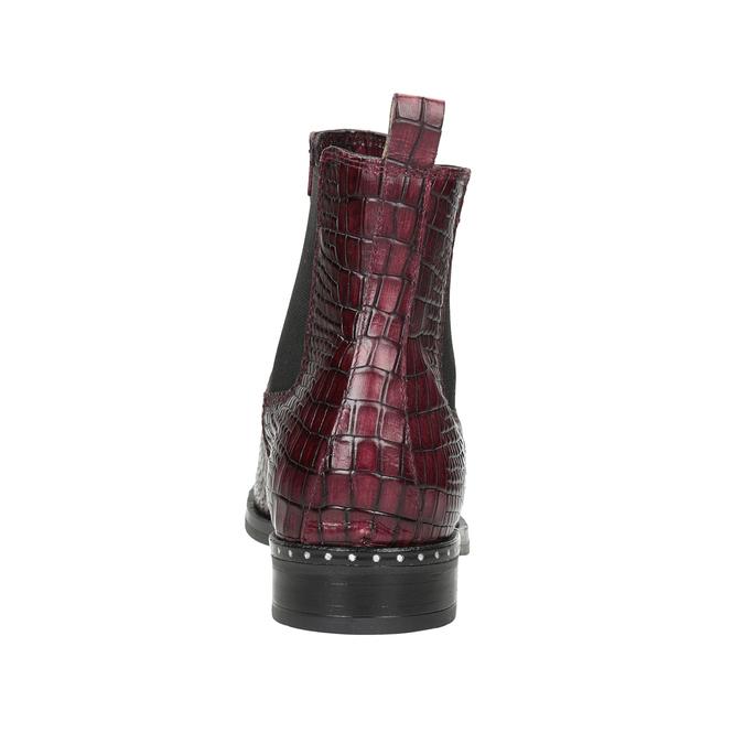 Skórzane obuwie damskie typu chelsea bata, czerwony, 596-5678 - 16