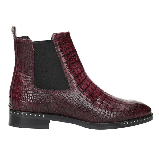 Skórzane obuwie damskie typu chelsea bata, czerwony, 596-5678 - 26