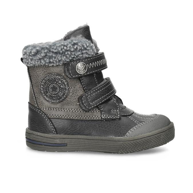 Zimowe buty dziecięce zociepliną bubblegummer, szary, 191-4619 - 19