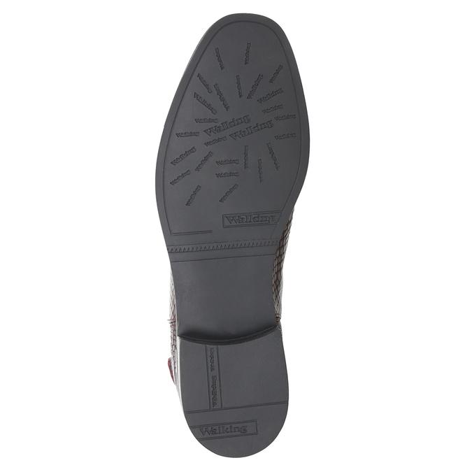 Skórzane obuwie damskie typu chelsea bata, czerwony, 596-5678 - 17