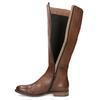 Brązowe skórzane kozaki bata, brązowy, 594-4637 - 17