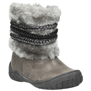 Zimowe buty dziecięce zfuterkiem bubblegummer, szary, 191-2620 - 13