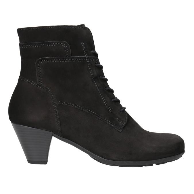 Sznurowane buty ze skóry za kostkę gabor, czarny, 726-6120 - 26