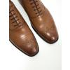 Skórzane półbuty typu oksfordy ze zdobieniami bata, brązowy, 826-3690 - 14