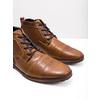 Skórzane buty za kostkę zzamkami bata, brązowy, 826-3911 - 18