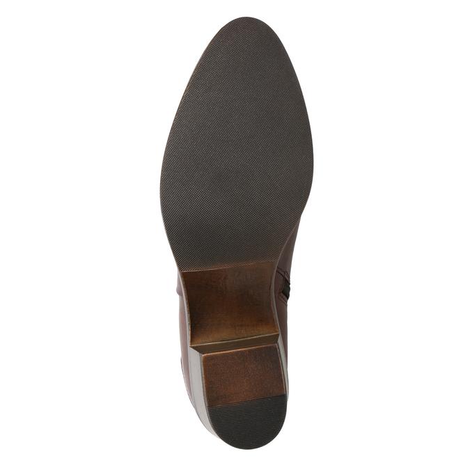Botki na stabilnych obcasach bata, brązowy, 696-4654 - 17