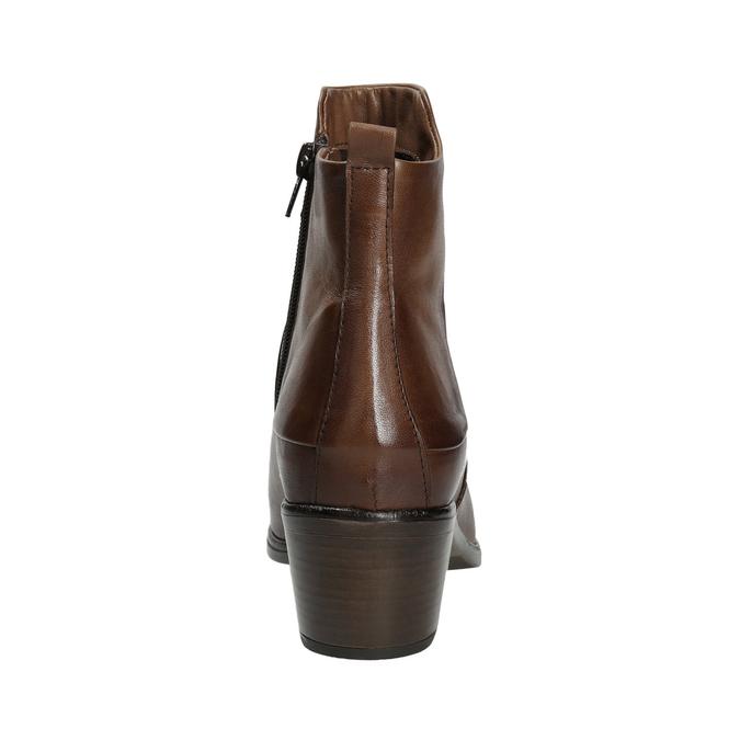 Botki na stabilnych obcasach bata, brązowy, 696-4654 - 16