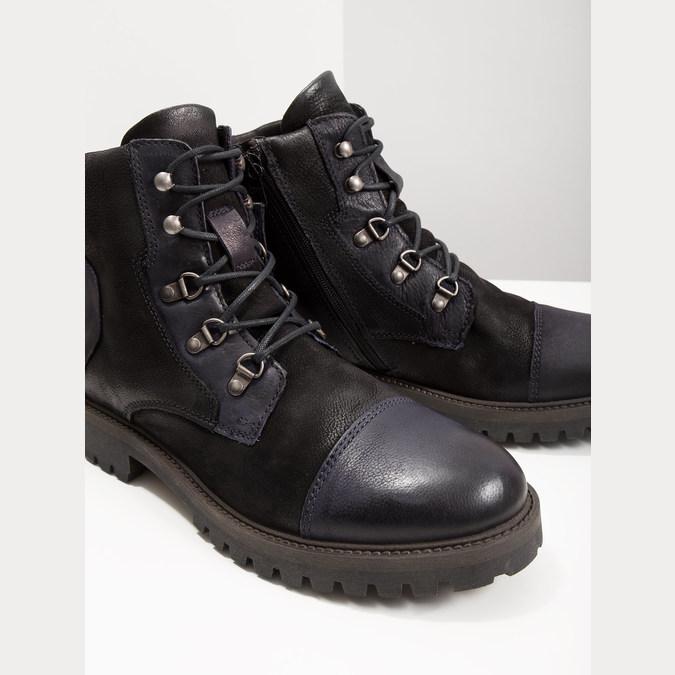 Buty męskie za kostkę bata, czarny, 896-6664 - 18