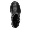 Kozaki dziewczęce zzamkami błyskawicznymi mini-b, czarny, 291-6396 - 15