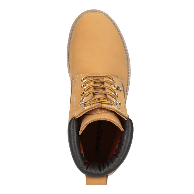 Skórzane buty za kostkę na grubej podeszwie weinbrenner, brązowy, 596-4664 - 15