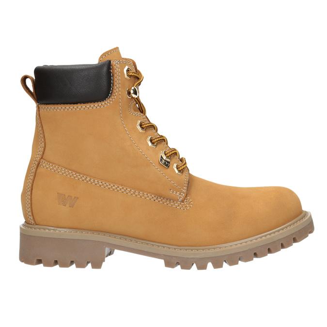 Skórzane buty za kostkę na grubej podeszwie weinbrenner, brązowy, 596-4664 - 26