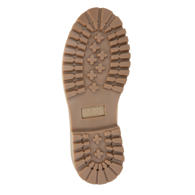 Skórzane buty za kostkę na grubej podeszwie weinbrenner, brązowy, 596-4664 - 17