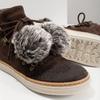 Skórzane obuwie za kostkę weinbrenner, brązowy, 596-4674 - 14