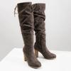 Kozaki damskie zmarszczeniami bata, brązowy, 799-4614 - 18