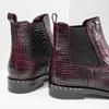 Skórzane obuwie damskie typu chelsea bata, czerwony, 596-5678 - 14