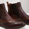 Skórzane obuwie typu chelsea ze ornamentami brogue bata, brązowy, 596-4683 - 14