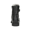 Skórzane botki zfuterkiem bata, czarny, 594-6656 - 16