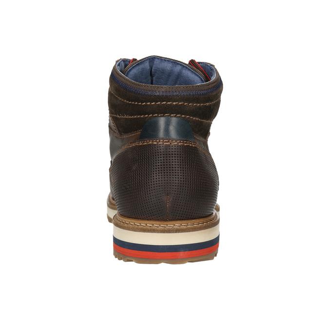 Skórzane zimowe buty męskie bata, brązowy, 896-4676 - 17
