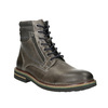 Skórzane obuwie za kostkę bata, szary, 896-2686 - 13