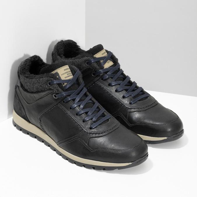 Zimowe trampki męskie bata, czarny, 846-6646 - 26
