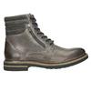 Skórzane obuwie za kostkę bata, szary, 896-2686 - 15